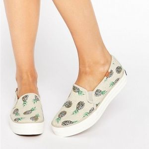 KEDS Triple Decker Pineapple Slip On Sneakers 9.5